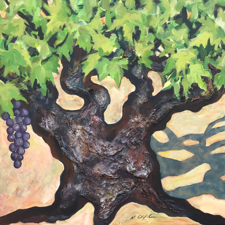 Nath Chipilova (Atelier NN art store) - Pied de vigne