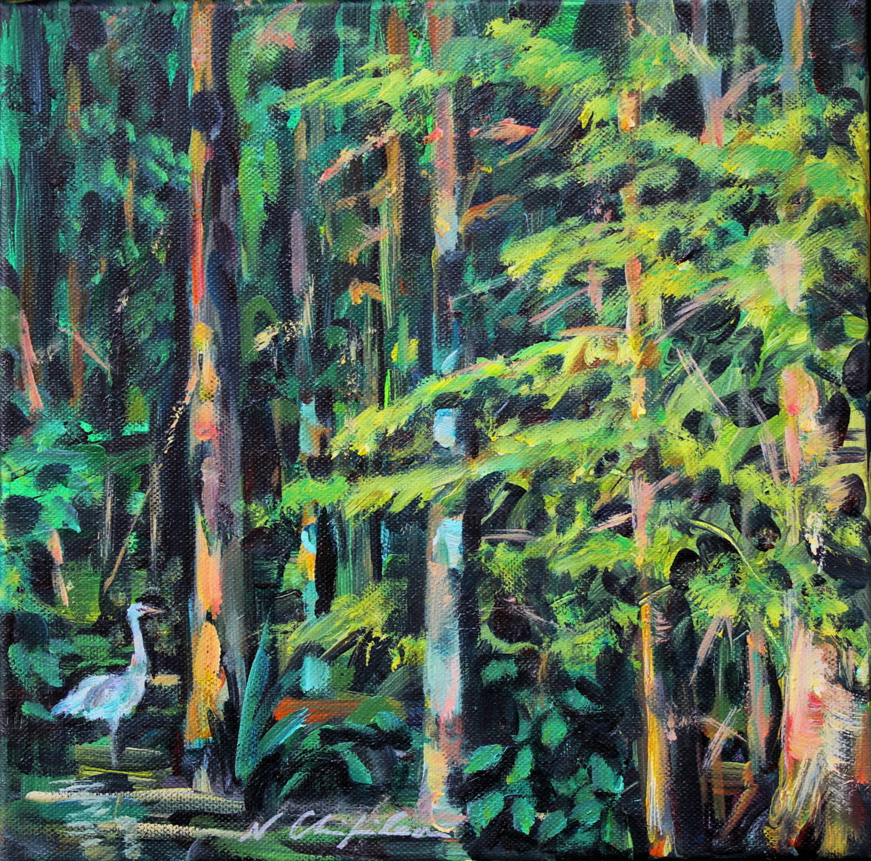 Nath Chipilova (Atelier NN art store) - Into the wood, heron