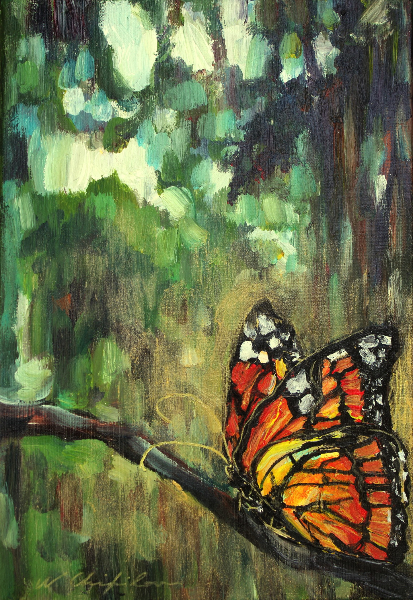 Nath Chipilova (Atelier NN art store) - Into the wood, butterfly