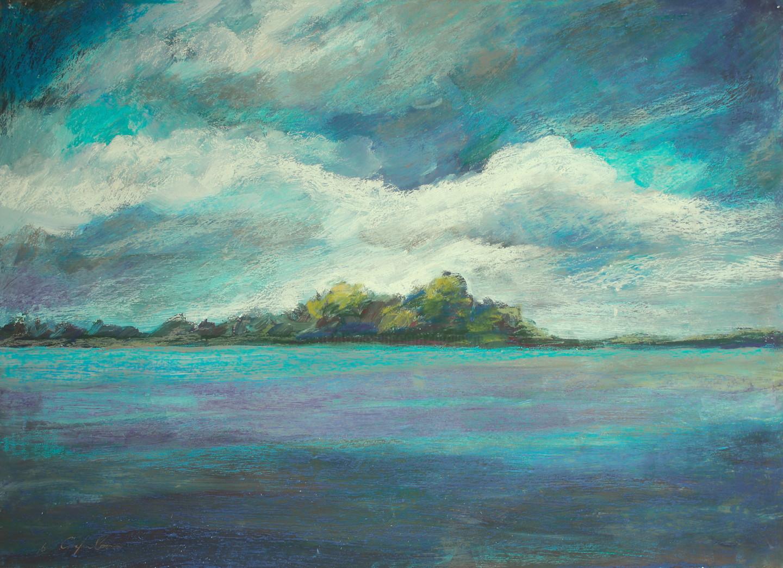 Nath Chipilova (Atelier NN art store) - Le lac bleu 1 #artistsupportpledge