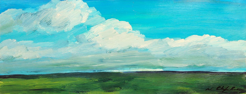 Nath Chipilova (Atelier NN art store) - Plaine, étude 4 20x50