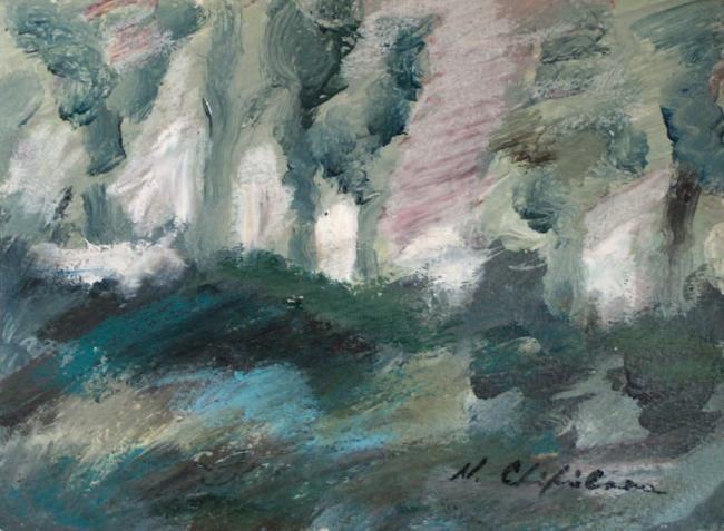 Nath Chipilova (Atelier N N art store) - Grey garden 2