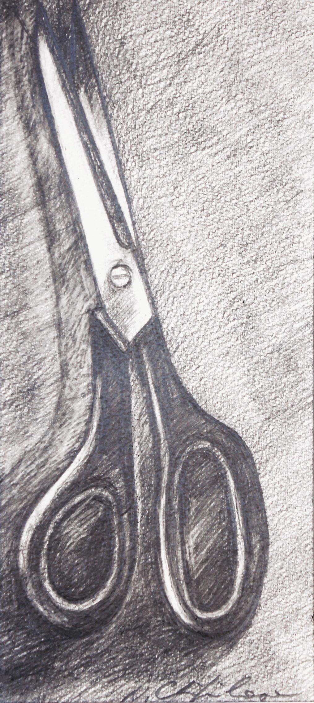 Nath Chipilova (Atelier NN art store) - Scissors 1, 32x16cm