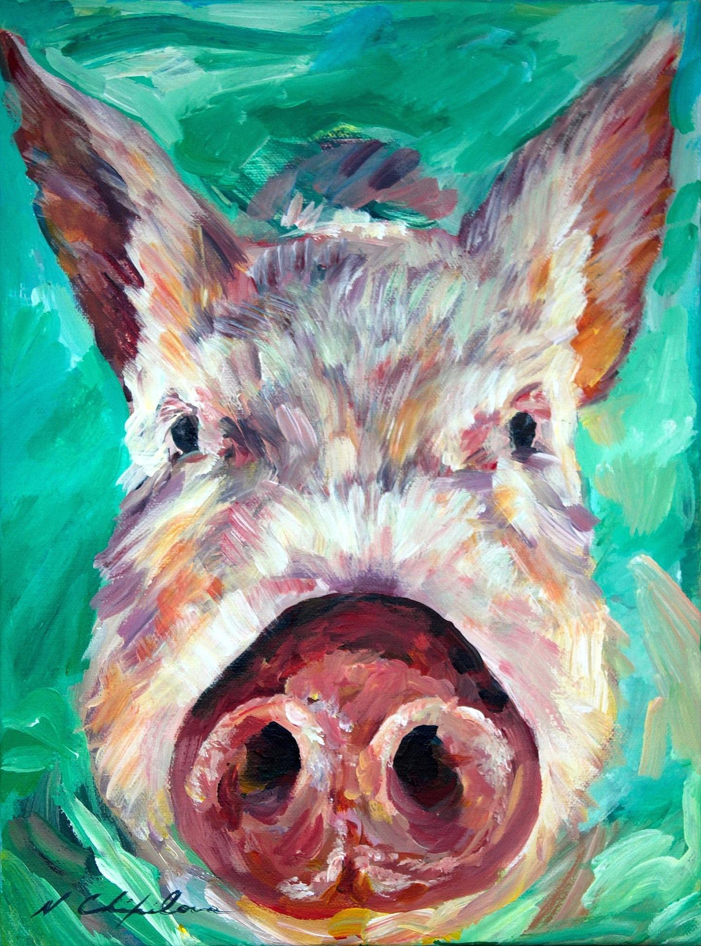 Nath Chipilova (Atelier NN art store) - Bahamas Pig