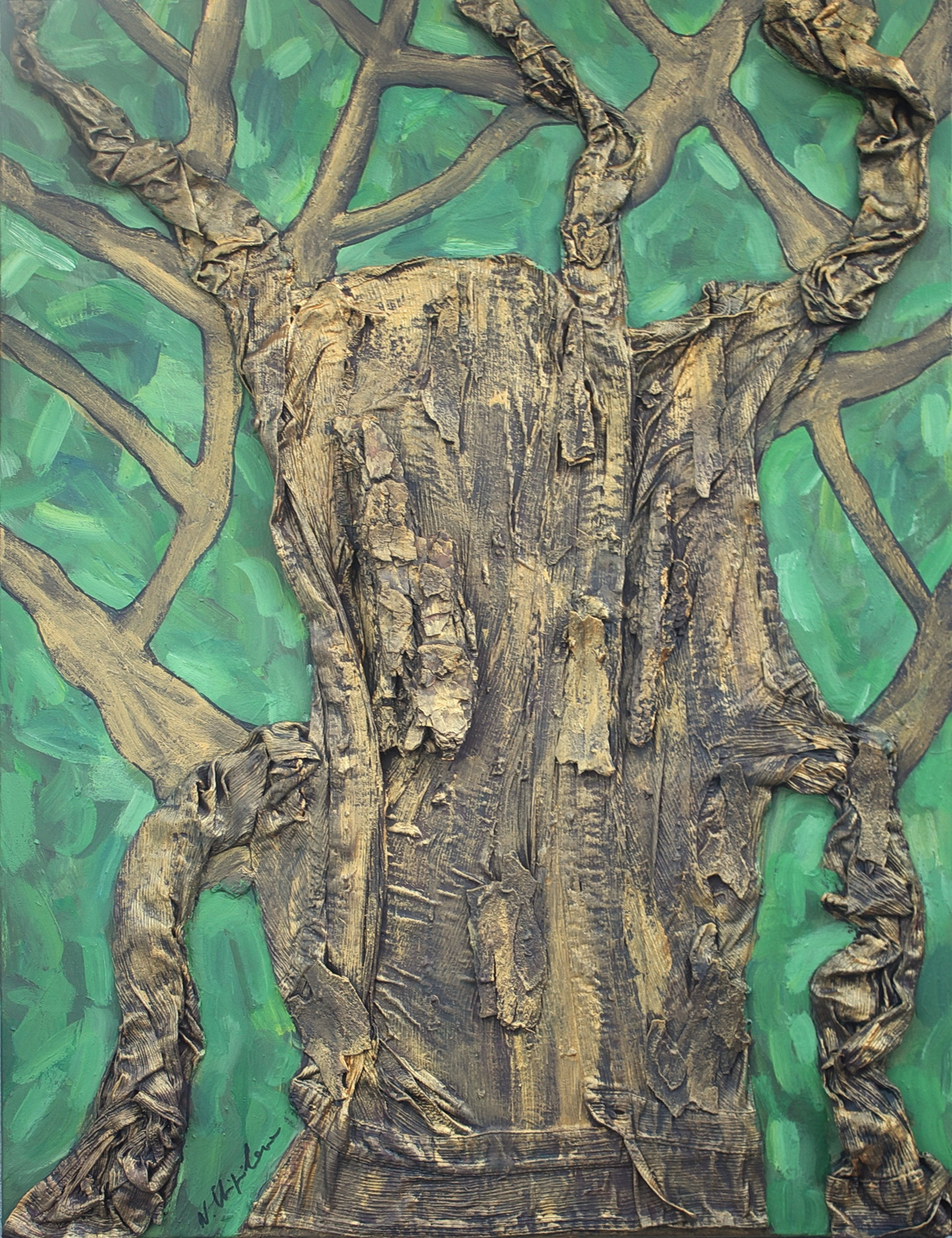 Nath Chipilova (Atelier NN art store) - Golden Shirt Tree Part 5