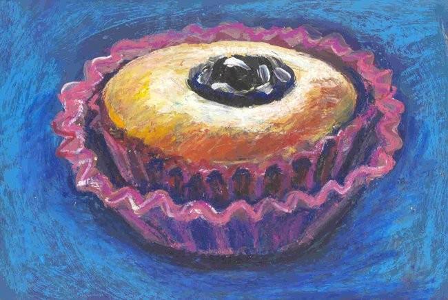 Nath Chipilova (Atelier NN art store) - Cake à la prune