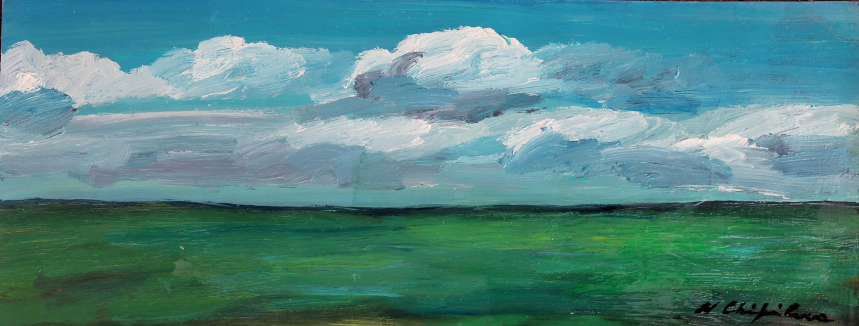 Nath Chipilova (Atelier N N art store) - Plaine, étude 1 20x50