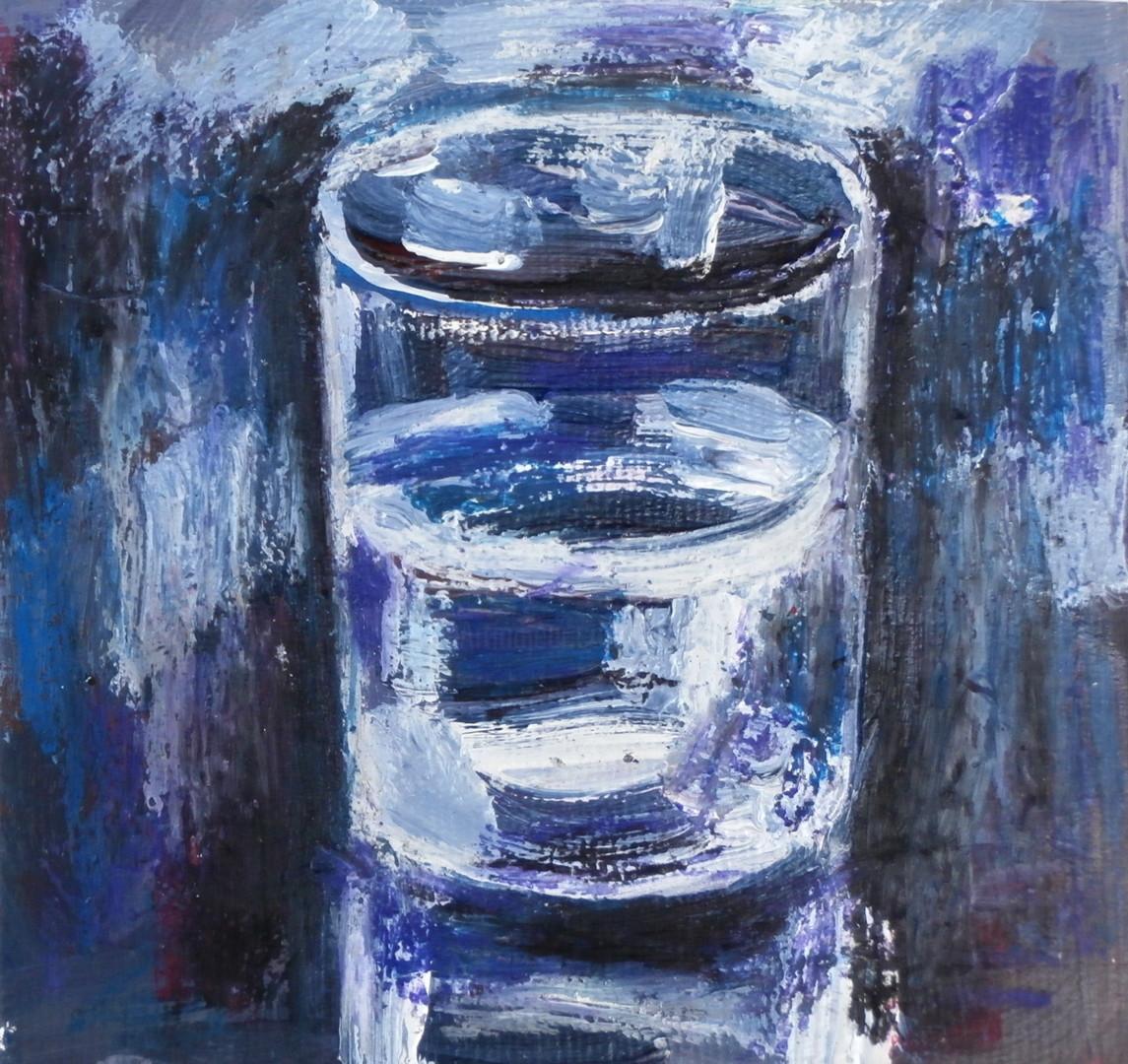 Nath Chipilova (Atelier NN art store) - Verre d'eau 15x15cm