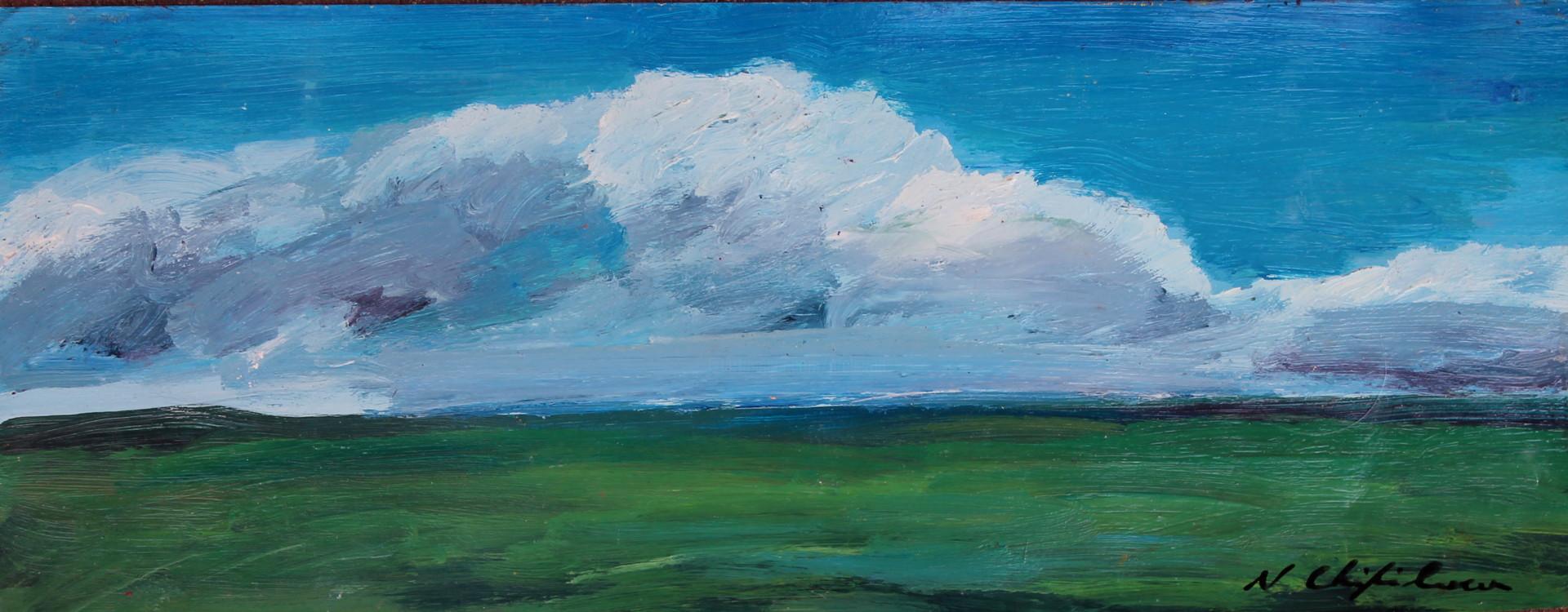 Nath Chipilova (Atelier NN art store) - Plaine étude 6 20x50