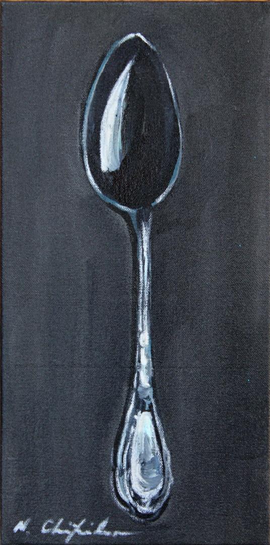 Nath Chipilova (Atelier N N art store) - Black spoon