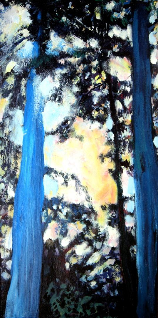 Nath Chipilova (Atelier NN art store) - Blue trees