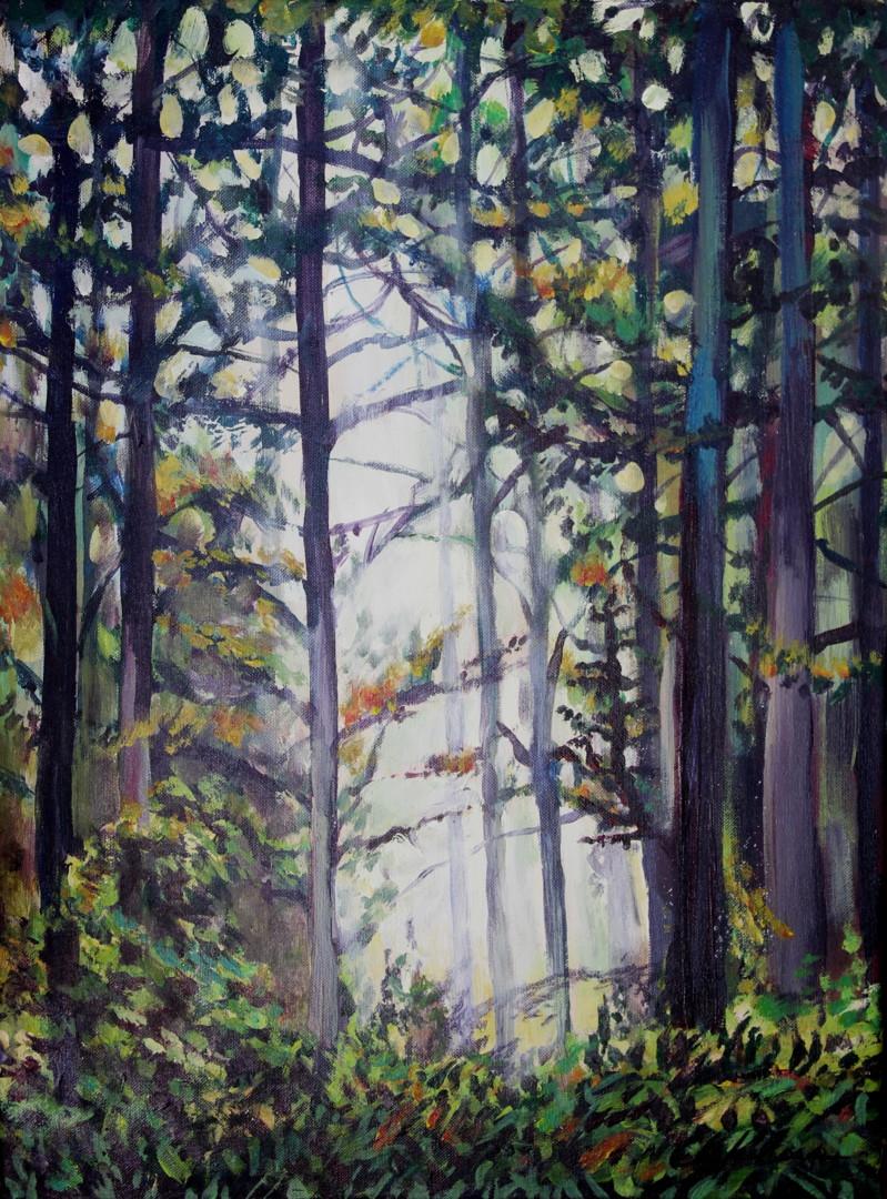 Nath Chipilova (Atelier NN art store) - In the forest 3,  61x41cm