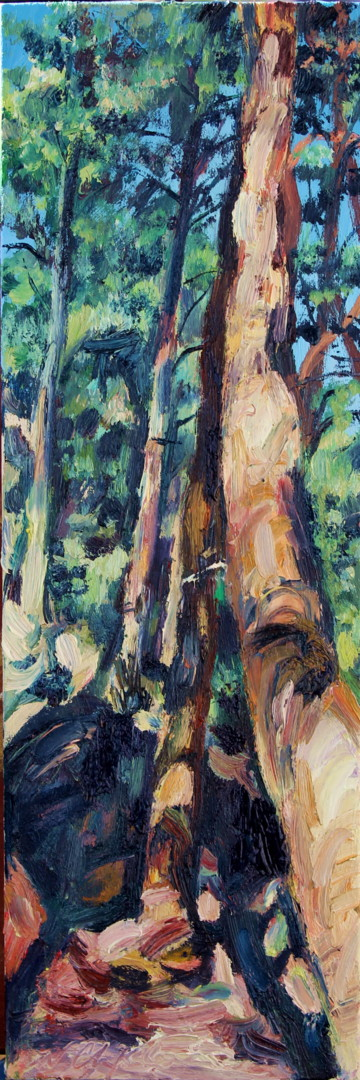 Nath Chipilova (Atelier NN art store) - In the forest, 60x20cm