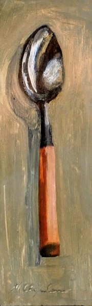 Grande cuillère, manche en bois