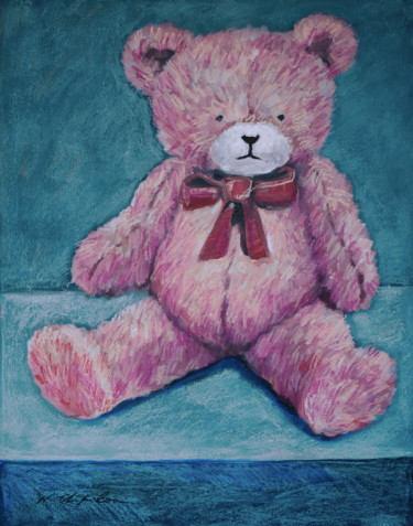 Doudou ours rose 1