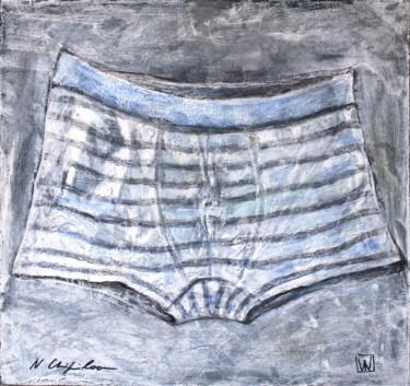 Caleçon rayé. #artistsupportpledge