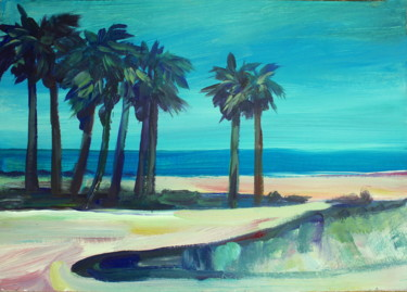 At the beach 1  #artistsupportpledge