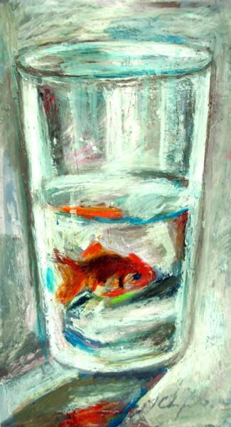 Verre d'eau, poisson rouge