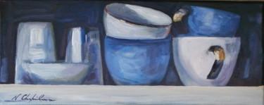 Étagère, tasses et porcelaine