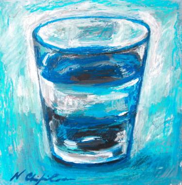 Verre d'eau 3, 20x20 cm