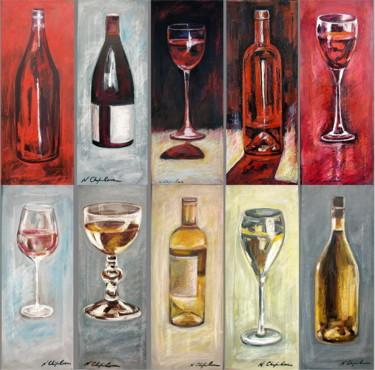 Verres et bouteilles. Composition