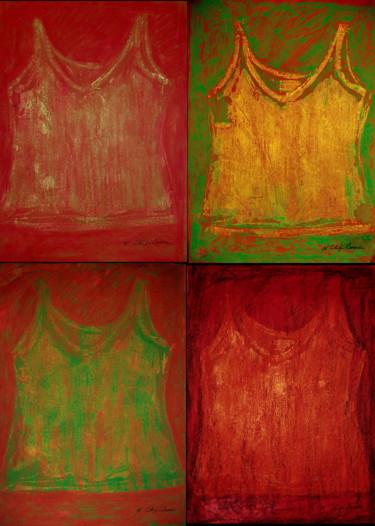 Green undershirts x 4.  Exemple de présentation
