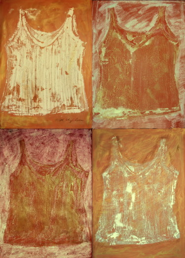 Mix undershirts x4.  Exemple de présentation