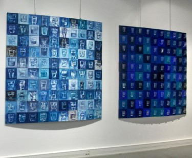 """Vue """"Water glasses"""" exposition """"Blue"""""""