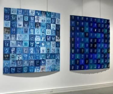 """Vue pnneaux exposition """"Blue"""""""