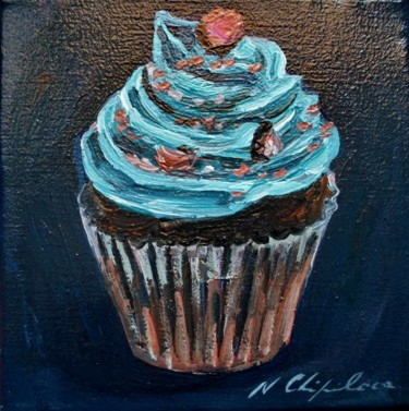 Blue cupe cake