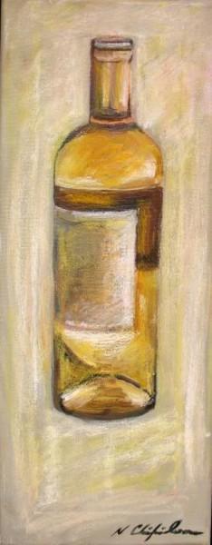 Bouteille de vin blanc 2