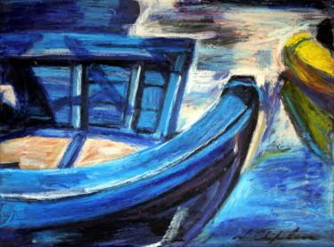 Barque bleue port (Fréjus)
